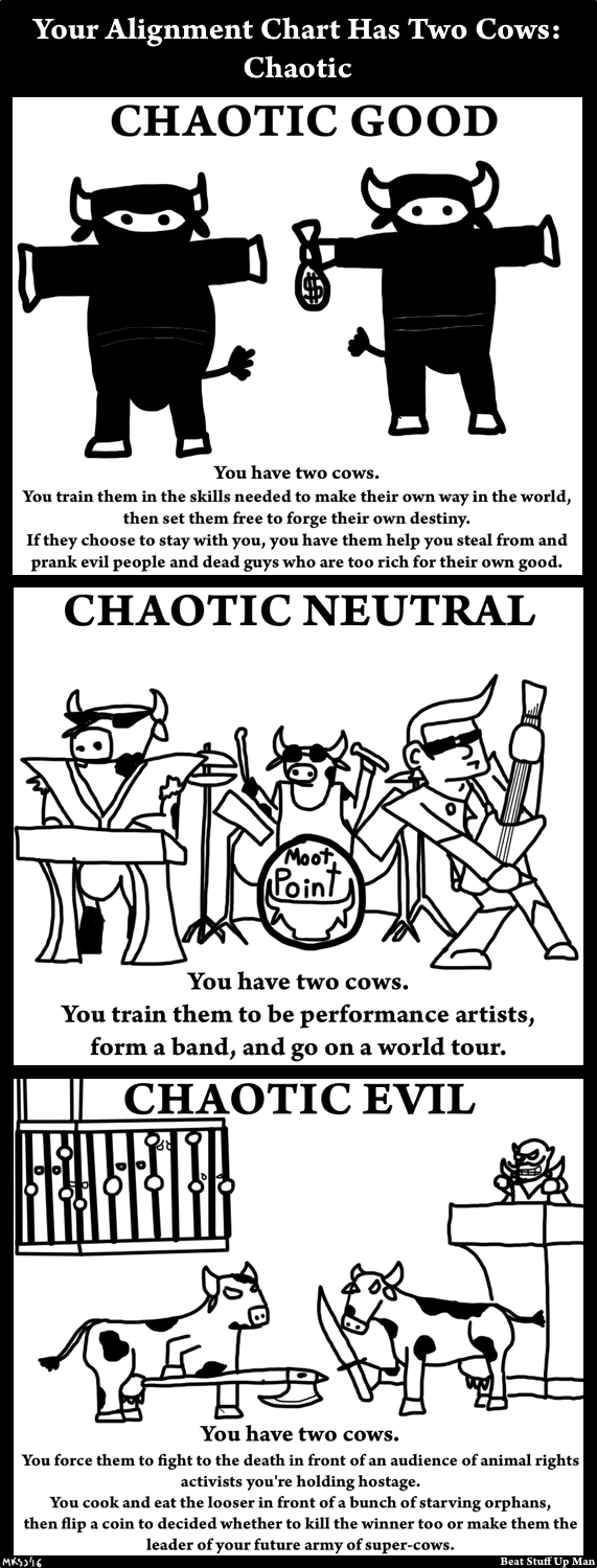 Intermission: Your Alignment Chart Has Two Cows - Chaotic